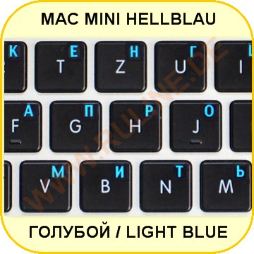 Mini Stickers with Russian letters in light-blue on black für Apple-Macintosh