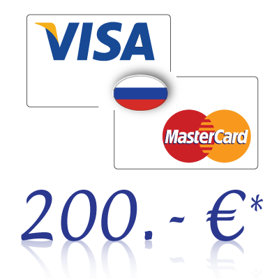 Send 200, - EUR in rubles on a bank card in Russia