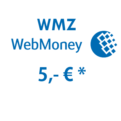 Refill electronic wallet (WMZ) WebMoney with 5,- € in USD